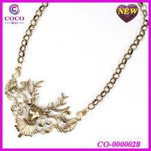vintage alloy deer antler necklace 2013