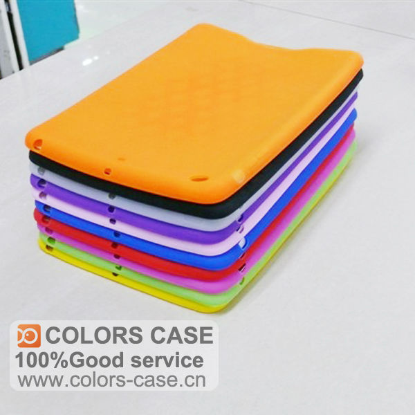 For ipad mini single color soft silicone case
