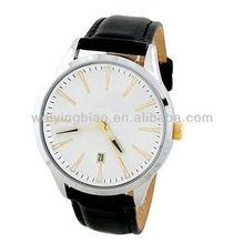 2013 stylish quartz movt steel leather discount luxury watch