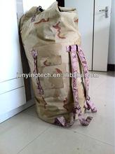 Army duffel bag tubular shape bag three color desert camouflage