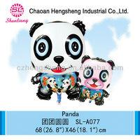 China manufacturer cartoon balloon panda party decorations