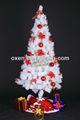 branco artificial pine agulha natal decoração da árvore