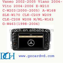 car gps dvd for for mercedes benz c-class w203 Viano/Vaneo/Vito/C-W203/A-W168//CLK-C209 /G-W463 WS-8802