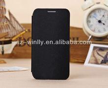 Black PU Leather Flip Case For Samsung Galaxy S4 i9500 / i9505