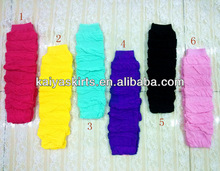 2013 New Arrivals! baby boutique wholesale cotton infant toddler Leg Warmers,solid color ruffle leg warmer in stock