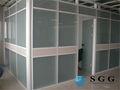De alta qualidade fosco vidro portas interiores profunda ácido gravou o vidro com CCC CE ISO