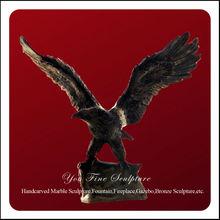 Brass eagle bronze sculpture