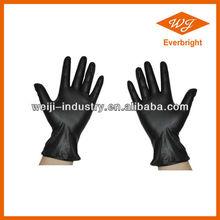HDPE black gloves vinyl industrail vinyl glove for cleanroon/lab / hospital /medical