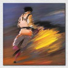 Impression Modern Decration Textured Impasto dancing girl Palette Knife Painting