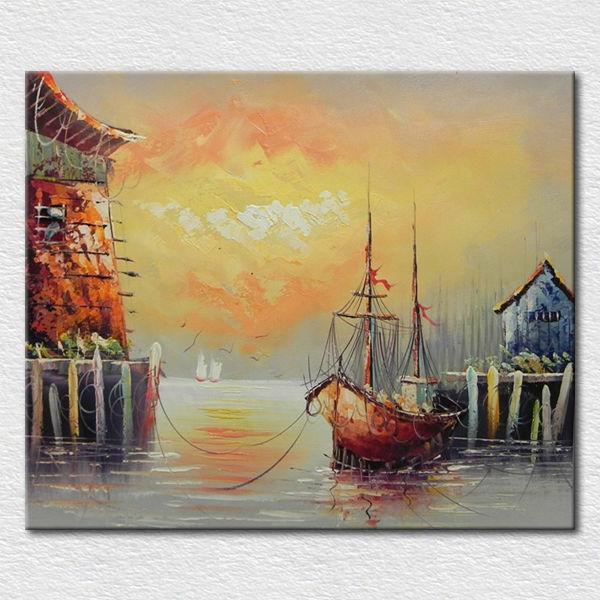 Moderne inrichting zeegezicht kunst paletmes schilderij te koop schilderen kalligrafie product - Moderne kamer volwassen schilderij ...