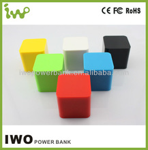 Cube shape smallest size 2400mAh power bank with candy colors