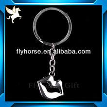 Custom soft PVC cartoon Colored plastic coated key chain