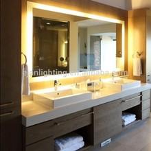 UL approved led back lighted bathroom mirror
