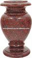 granito rojo chino lápida del cementerio florero con el agujero