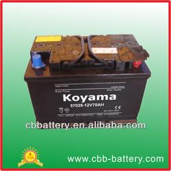 57208 dry cell lead acid battery 12v70ah