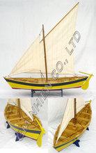 Pounette thuyền mô hình bằng gỗ- Thuyền yact