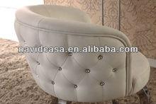 2013 modern cheap pu king throne chair white