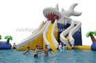 giant inflatable water slide with pool,inflatable water pool slide