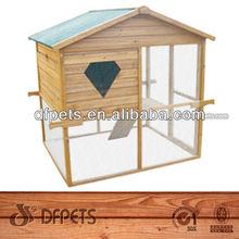 Legno naturale all'aperto di pollo Coop Cage and Run DFC014