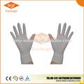 mejor venta de buena calidad de color blanco no estériles desechables de látex guantes