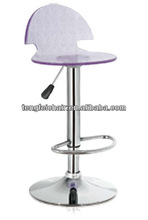 Acrylic bar stool with SGS 330 hight gas lift,385mm chroming base and 360 degree swivel