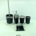 EA0105 walmart bathroom sets/black bathroom accessory sets/5 pcs bathroom sets