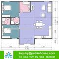 2013 nuevos diseños de la casa para Nigeria ---- de dos dormitorios 100SQm prefabricada de acero ligero villa