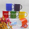 11 oz caneca de cerâmica colorida sublimação