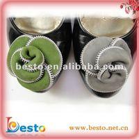 Fancy custom ladies zipper flower decorative shoe clip flowers