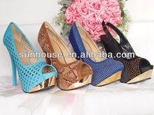 2015 summer cheap fashion 12cm women high heel shoes