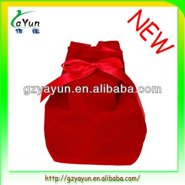 velvet gift bag ,promotional velvet bag,red velvet bag,velvet drawstring bag