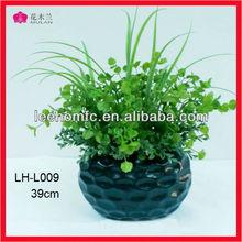 Green Lifelike Mini Trees Decorative Fake Grass In pot