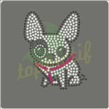 Cute little dog hotfix applique for baby clothing decoration