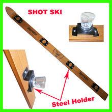 2014 best seller Wooden Shot Ski with glass holder