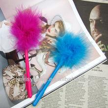 A200 feather fluffy ball pen, children pen as promotional gift