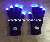 LED glove led black gloves with led lights