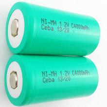 nimh c 4000mah 1.2v rechargeable battery