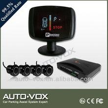 VFD display parking sensor for nissan with voice alert with 4 sensors