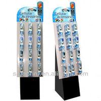 Color printing display stand cardboard floor display cell phone accessory display rack