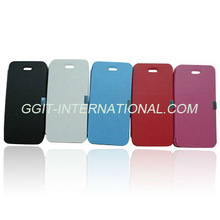 Mobile Phone flip cover for iPhone 5 Flip-Open Case with magnetic button