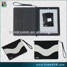 unique wallet leather case for ipad 3 with belt