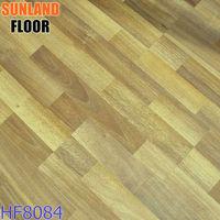 wooden flooring parquet wood grain waterproof rubber laminate flooring HF8084 jiangsu flooring good quality