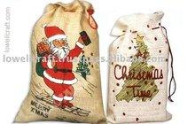 regalo de navidad bolsa de yute lazo