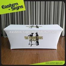 White Full Color Table Runner