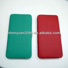 Fashion Design Pure PU Ladies Hinge Purse/Women Metal Frame Wallets/Lady Clutch Bag For USA