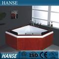 Diamante- en forma de doble de baño de lujo spa cápsula/nadar spa bañera hs-b285