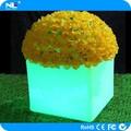 Levou mini vaso de plantas, led vaso de flores para decoração de jardim pote plástico