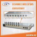 Boîte de Sim Gsm GoIP 32 porto Gsm GoIP passerelle Imei changement raog dispositif d'enregistrement livraison
