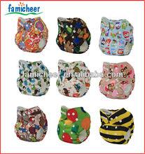 lovely print hotsale baby cloth pocket diaper nappy insert
