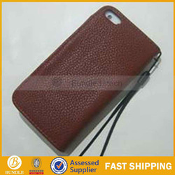 leather flip case for iphone5,with various color and string